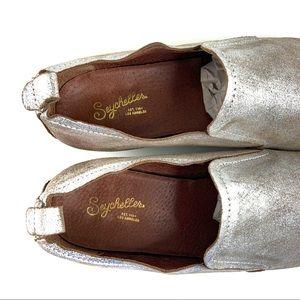 Anthropologie Shoes - Anthro Seychelles Blush & Metallic Western Slip On